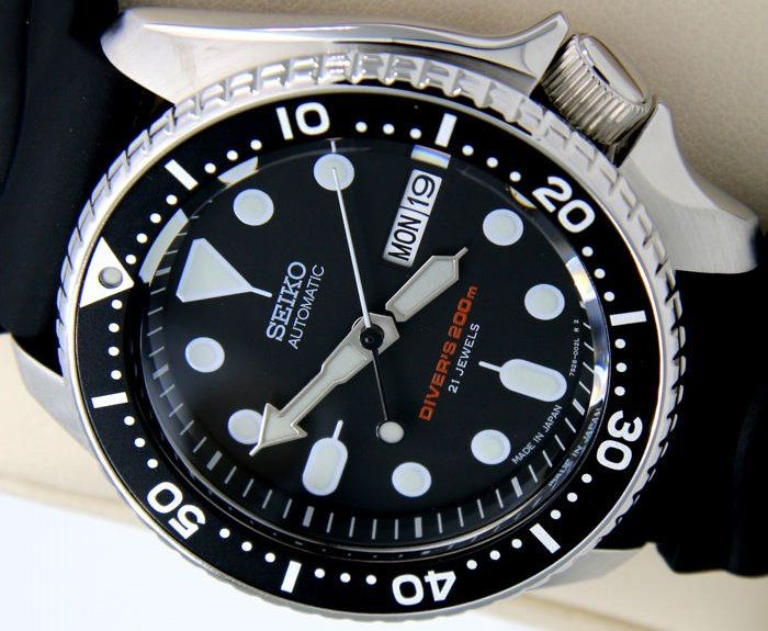 "Seiko - Scuba Automatic Black Made in Japan - ""NO RESERVE PRICE"" - Homme - 2018"