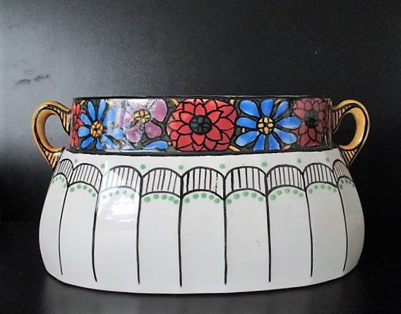Large Art Deco ceramic jardinière - presumably AMC, marked 200 and 1043