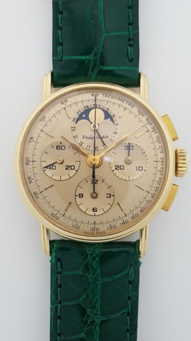 Philip Watch - Chronograph Calendar and Moon Phase - 8882 - Unisex - 1990-1999