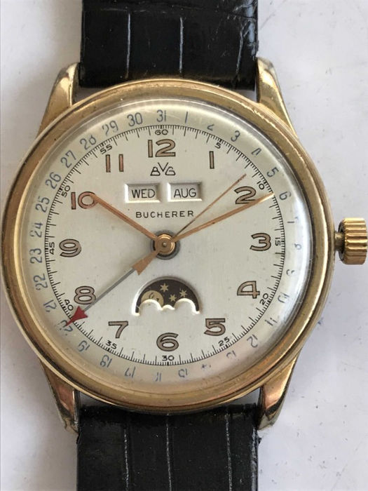 Bucherer - Felsa Bidynator triple calendar moonphase watch - Unisex - 1950-1959