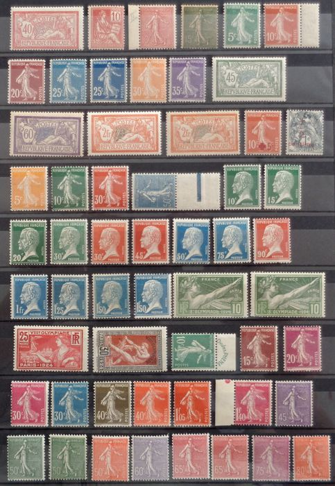 France 1900/1939 - Semi modern collection
