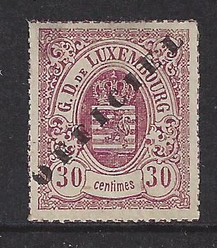 Luxemburg 1875 - Weapon Official overprint Pierced perforation - Michel 7 II