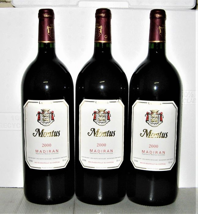 2000 Madiran Château Montus – Lot of 3 Magnums 1,5 L.