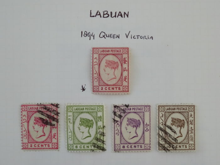 Labuan 1885/1902 - Collection on sheets