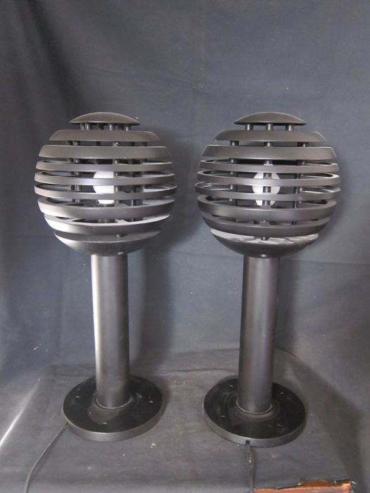 Anonymous designer, pair of Space Age UFO table lamps