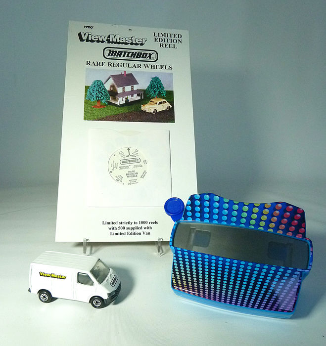 Matchbox - 1/63 - Ford Transit - limited with Viewmaster disk and viewer