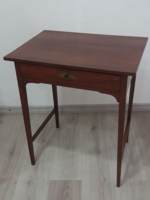 Durmast writing desk with drawer in Liberty style - 20th century
