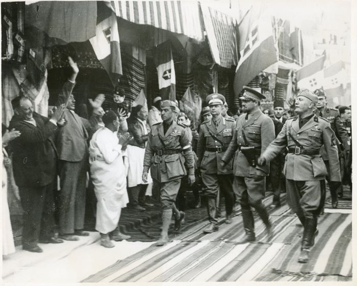 Unknown/Keystone/Planet News - Benito Mussolini in Libya, 1937 / With King Victor Emmanuel, 1937