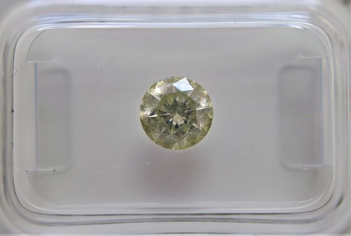 1.01 ct - Natural Fancy Diamond - Light Green Color - SI3  - NO RESERVE!
