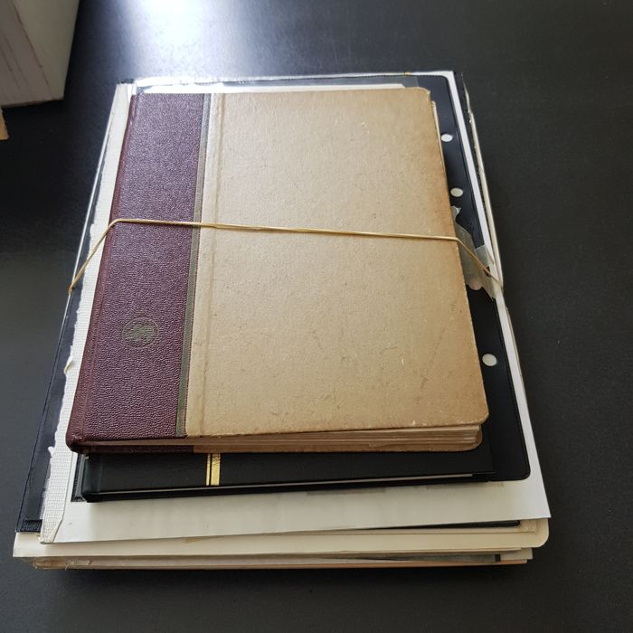 Wereld 1870/1980 - Various countries on stick book sheets and stock books