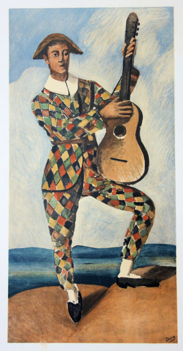 André Derain - Tribute to Picasso : Musician Harlequin