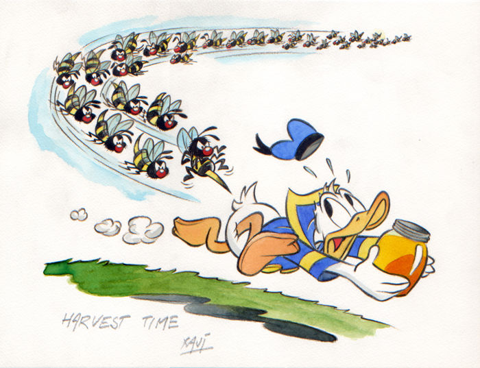 Xavi - Original illustration - Donald Duck - Honey Harvest Time - (2014)