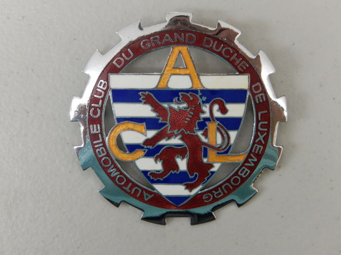 Badge - Automobile Club of Luxembourg ACL Car Badge - 1970