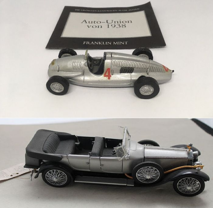 Franklin Mint Rolls Royce Silver 124 Auto Union 1938