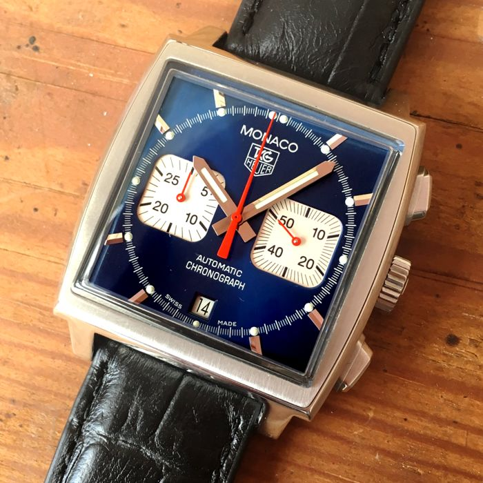 TAG Heuer - Monaco Steve McQueen Blue Chronograph  (Re-Edition) - CW2113 - Heren - 2011-heden