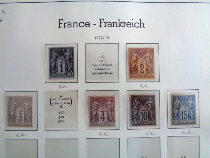 France 1877/1937 - Semi modern collection with taxes