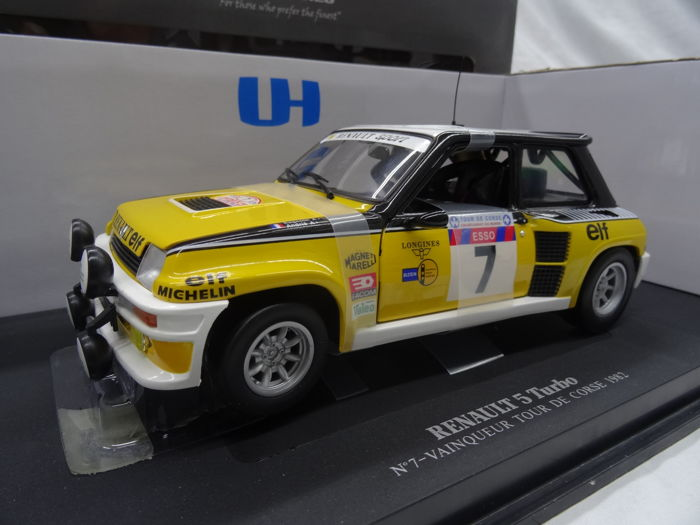 Universal Hobbies - 1:18 - Renault 5 Turbo No.7 - Vainqueur - Tour de Corse 1982 Winner