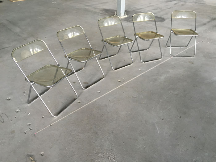 Giancarlo Piretti for Castelli - 5 Plia Chairs