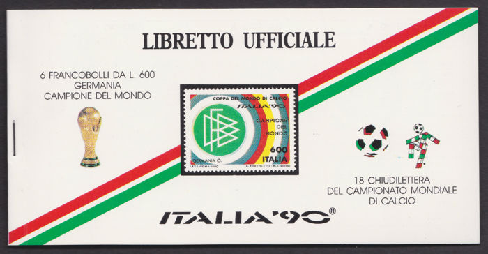 Italië 1990 - Football World Cup - Special stamp booklet
