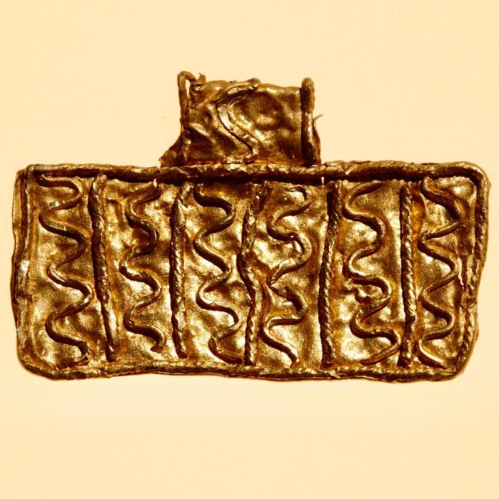 Early medieval Gold Excellent Filigree Viking Amulet/Pendant - 2,5cm.