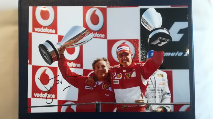 Signed photo 30 x 20 cm - Jean Todt - former Formula 1 team chef from Ferrari