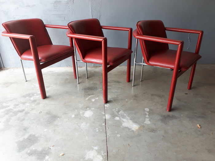 Hugo de Ruiter for Leolux - 3 Cachucha chairs
