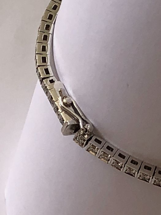 18 kt. White gold - Bracelet - 1.30 ct Diamond