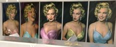 Phil Stern-colored by Del Greger - Five Times Marilyn