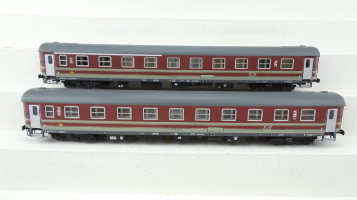 A.C.M.E. H0 - 55115 - Passenger carriage - Set of 2 carriages 1st/2nd and 2nd Class - FS