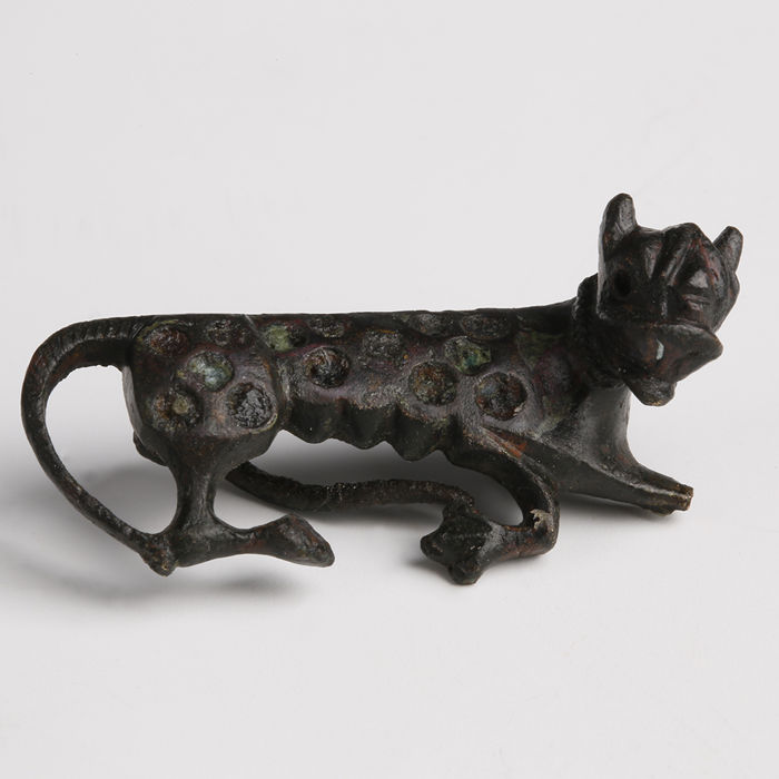 Oud-Romeins Brons Panther Brooch - Length 2.9cm, Height 1.7cm
