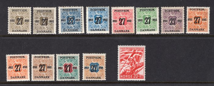 Scandinavië 1851/1941 - Various issues on 2 stock cards - - -