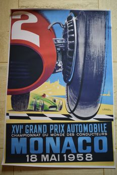 Poster - Grand Prix Automobile Monaco 1958  - 2011