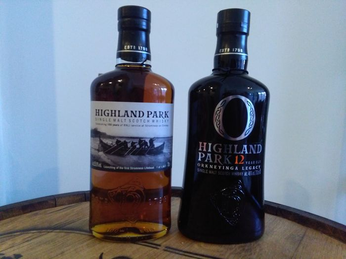 2 Bottles - Highland Park Stromness Lifeboat and Orkneyinga Legacy