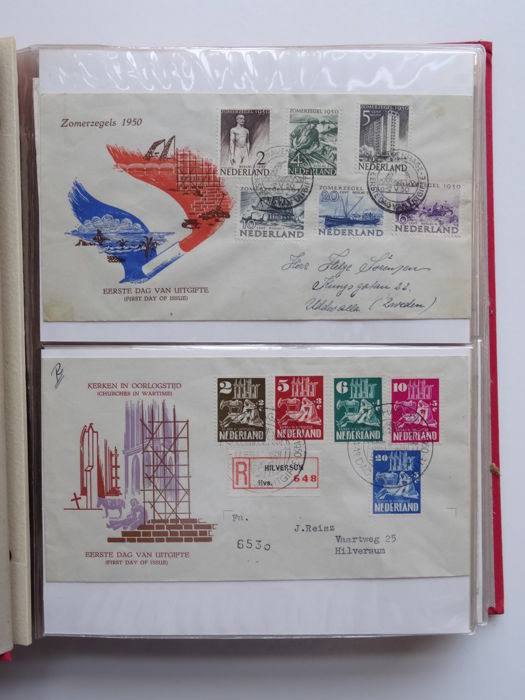 Nederland 1950/2005 - Complete collection of FDCs in 6 albums - NVPH E1/E525