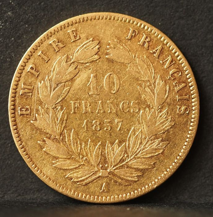 France 10 Francs 1857 A Napoleon Iii Or Catawiki