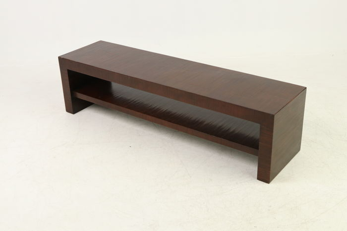 Art Deco bench of solid wood