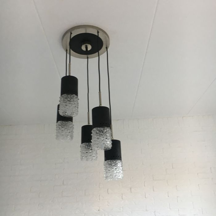 Mid Century Pendant Light With Glass Chalices Catawiki