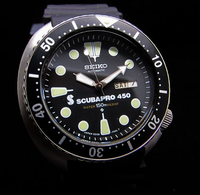 Seiko - Scuba Pro 450 Turtle  - 6309-7040 Automatic - Men - 1990-1999