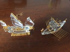 Swarovski - Chinese Junk, Viking Ship