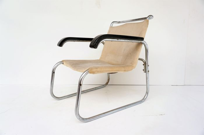 Unknown Manufacturer   Vintage Chrome Chair With Tubular Frame