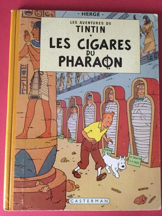 Tintin - Les cigares du Pharaon - B14 française - Softcover - First edition (1955)