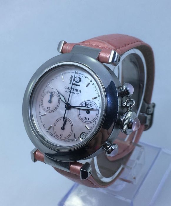 Cartier - Pasha C Chronograph Pink Limited Edition - 2412 - Dames - 2000-2010