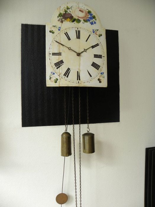 Apple clock from the Black Forest, late 19th century