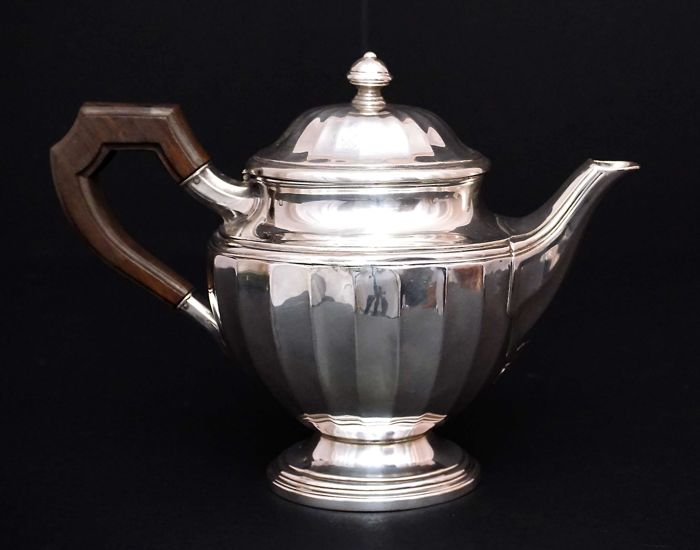 Silver Tea Pot   -Henri Lappara   -France beg. 20th c.