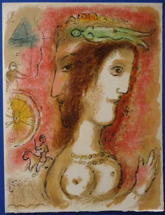 Marc Chagall - Odyssey : Odysseus and Penelope