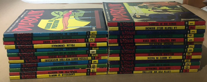 Diabolik nn. 1/14 + 1/12 - 2x annate XXV e XXVI cpl - Trade Paperback - First edition - (1986/1987)