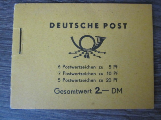 GDR 1957/1960 - Stamp Booklets - Michel MH2 - MH3