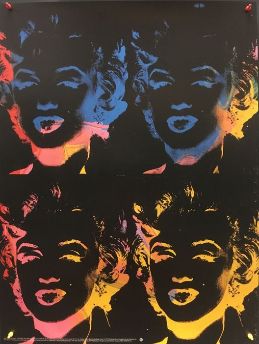 Andy Warhol - Four Multicoloured Marylins - 1993