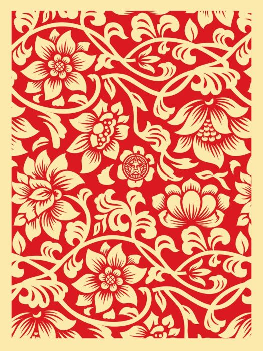 Shepard Fairey (OBEY) - Floral Takeover 2017 (Cream/Red)
