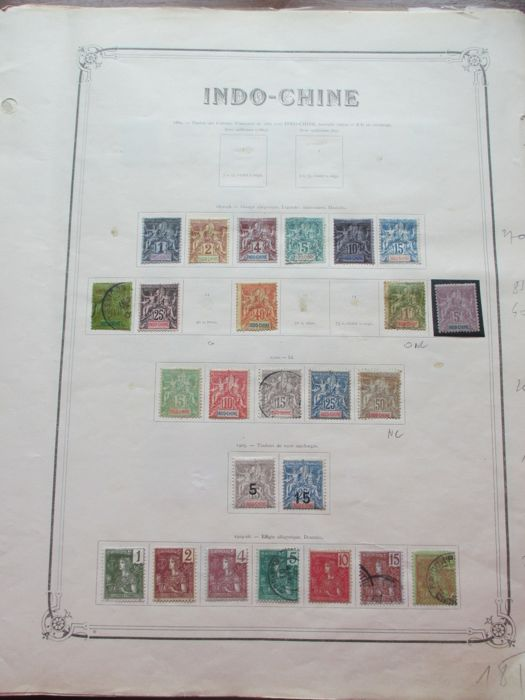 Indochina 1892/1933 - Stamp collection including air mail and tax